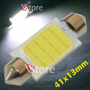 2-LED-Festoon-41mm-COB-SMD-12-Chip-BIANCO-Lampade-Luci-Lampadine-Interno-Targa