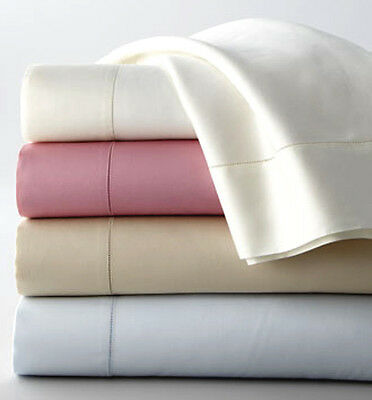 Sferra ELYSE Queen Sheet Set ROSE Egypt Cotton Sateen Hemstiched 300TC Italy NEW
