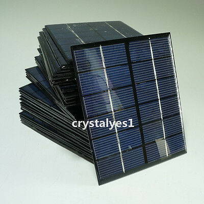 2W 6V Mini Solar Panel Module Solar System Solar Epoxy Cells Charger DIY New
