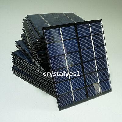2W 6V Mini Solar Panel Module Solar System Solar Epoxy Cells Charger DIY New