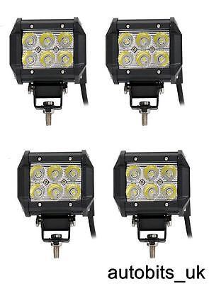 4x 36W 12V 24V LED WORK SPOT BEAM LAMPS NEW HOLLAND MASSEY FERGUSON JCB TRACTOR