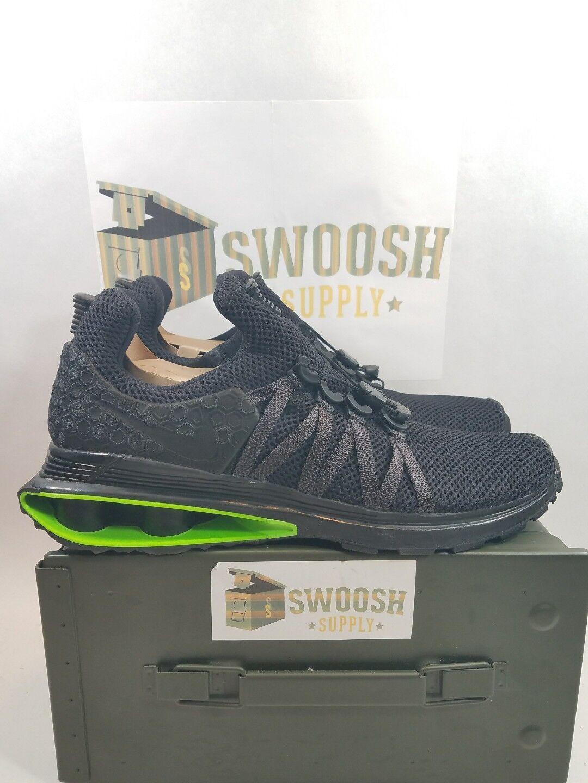 Nike Shox Gravity Luxe Uomo Size 11.5 Shoes Nero Green Strike AR1470 003