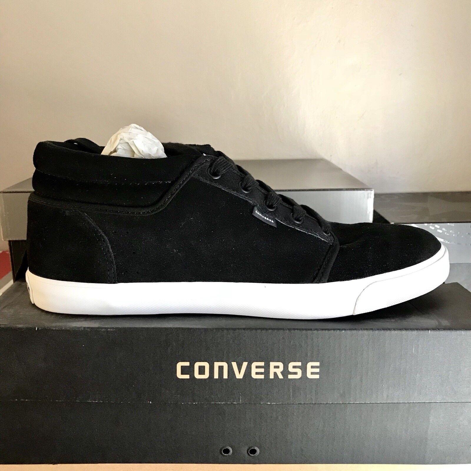 d5b0c7e10846 Mens Converse Silo Mid Mid Mid Black Suede Shoes Sz 12 f3e2ea ...