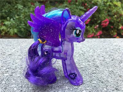 "Hasbro My Little Pony MLP 4"" Glow Figure Princess Luna New Loose"