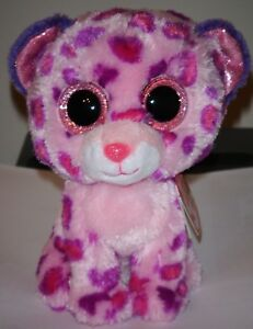 6957f592cff Ty Beanie Boos ~ GLAMOUR the Leopard (6 Inch)(Glitter Eyes) NEW MWMT ...