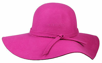 Ladies Women 100% Wool Floppy Felt Fedora Hat Wide Brim Sun Hat Vintage Style