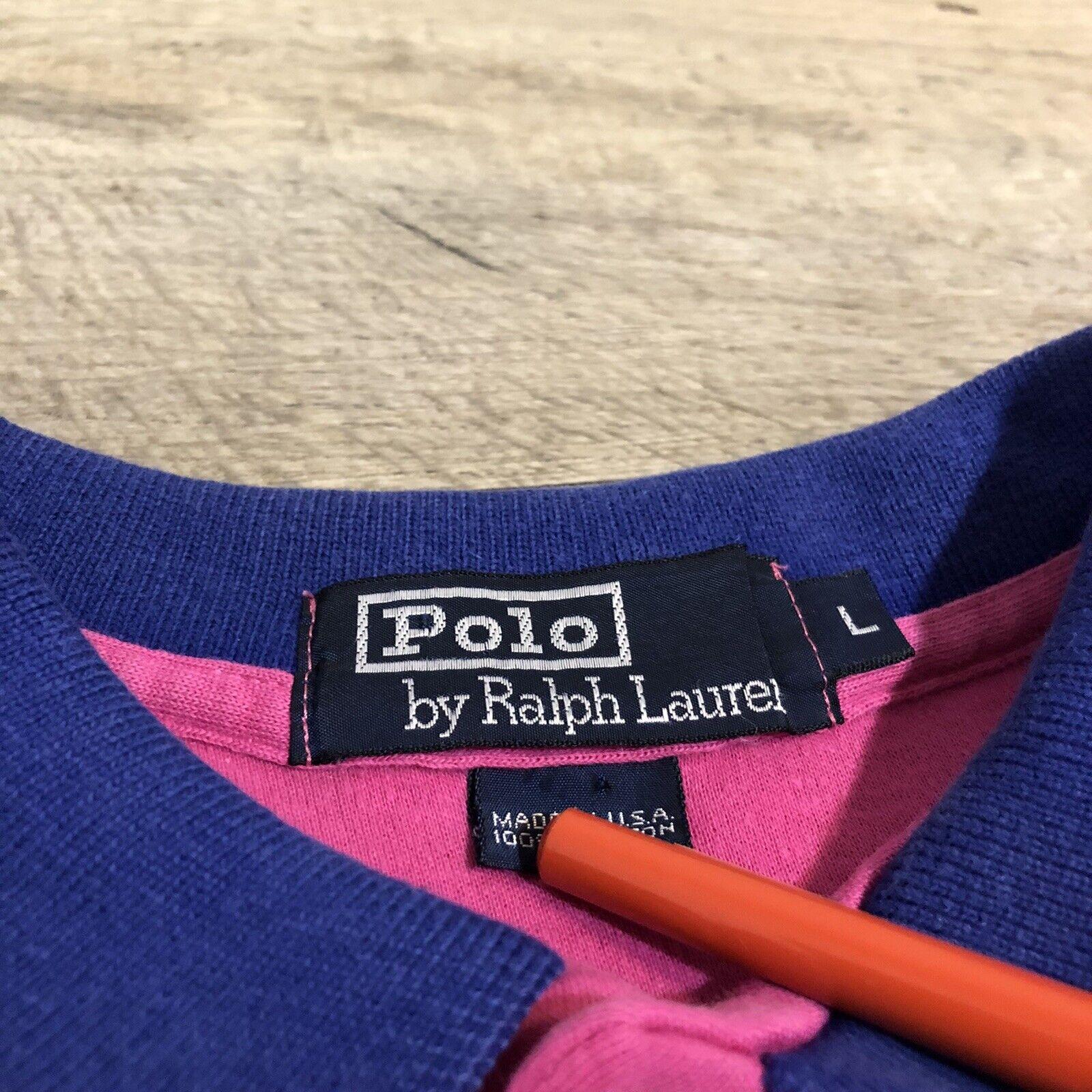 Vtg Ralph Lauren Polo Pink Striped Cotton Short S… - image 6