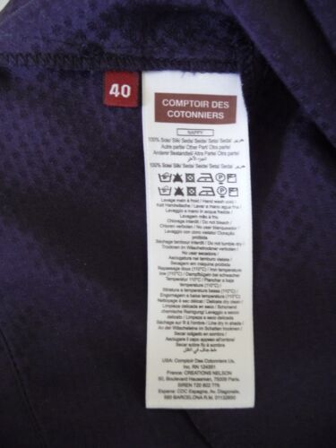 Bnwt Jupe 40 100 Cotonniers Ou Soie Taille Des Comptoir wOqrOA