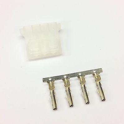 BRIGHT GREEN INC PINS PK OF 5 FEMALE 4 PIN MOLEX PC PSU POWER SUPPLY CONNECTOR