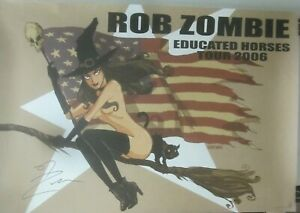 Rob-Zombie-EDUCATED-HORSES-TOUR-2006-Promo-Poster-Autographed-NM