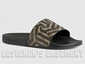 a65b3f65c69 GUCCI mens 7G  CALEIDO GG Supreme PURSUIT slides FLIP-FLOPS shoes ...