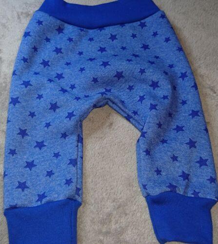 Hose Babyhose Pumphose Mitwachshose 56 62 68 royal blau mit Sternen Sweat