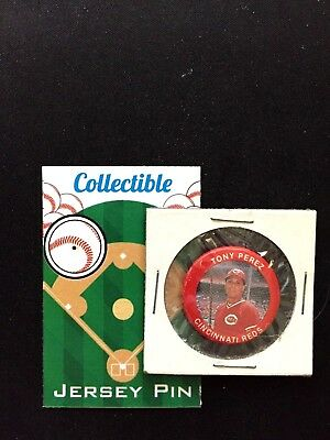 Fanartikel Sport Sparsam Cincinnati Reds Tony Pérez Pinback-mlb Classic Retro Collectible-big Rot Machine