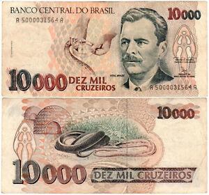 Brazil-10000-Cruzeiros-P-233a-1991-93-Banco-Central-do-Brasil-VF