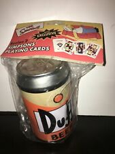 The Simpsons Collectible Playing Cards in Duff Beer Can Series 2 Two Deck