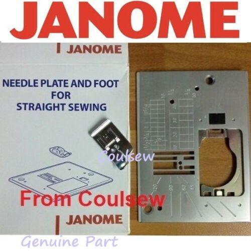 JANOME STRAIGHT STITCH NEEDLE PLATE /& FOOT SET Fit MC11000 QXL605 TXL607 MXL50