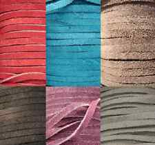 Real Genuine Leather Cord Suede Lace, Buy Exactly as Much as You Need, 9 Colors