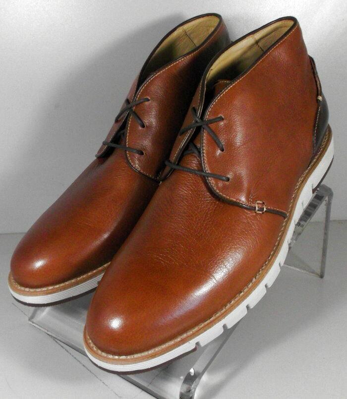 271750 ESBT50 Men's shoes Size 10 M Tan Leather Boots Johnston & Murphy