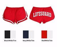 Women's Custom Shorts, Lifeguard On Back, American Apparel Running Shorts 7301