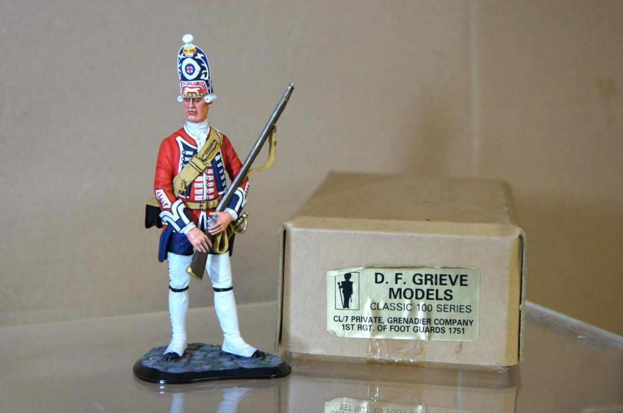 D F GRIEVE BRITISH PRIVATE GRENADIER COMPANY 1st REG of FOOT STUDIO PAINTED ot