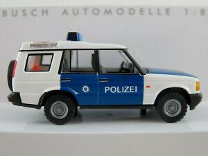 Busch-51917-Land-Rover-Discovery-1998-034-POLICE-Thuringe-034-1-87-h0-Nouveau-Neuf-dans-sa-boite