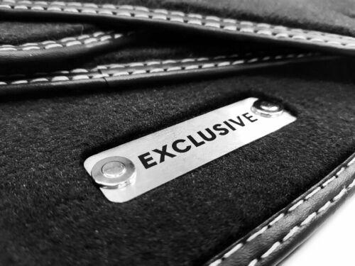Fußmatten Mercedes MP4 Actros Original Qualität Velours 3x Metal Logo Exclusive