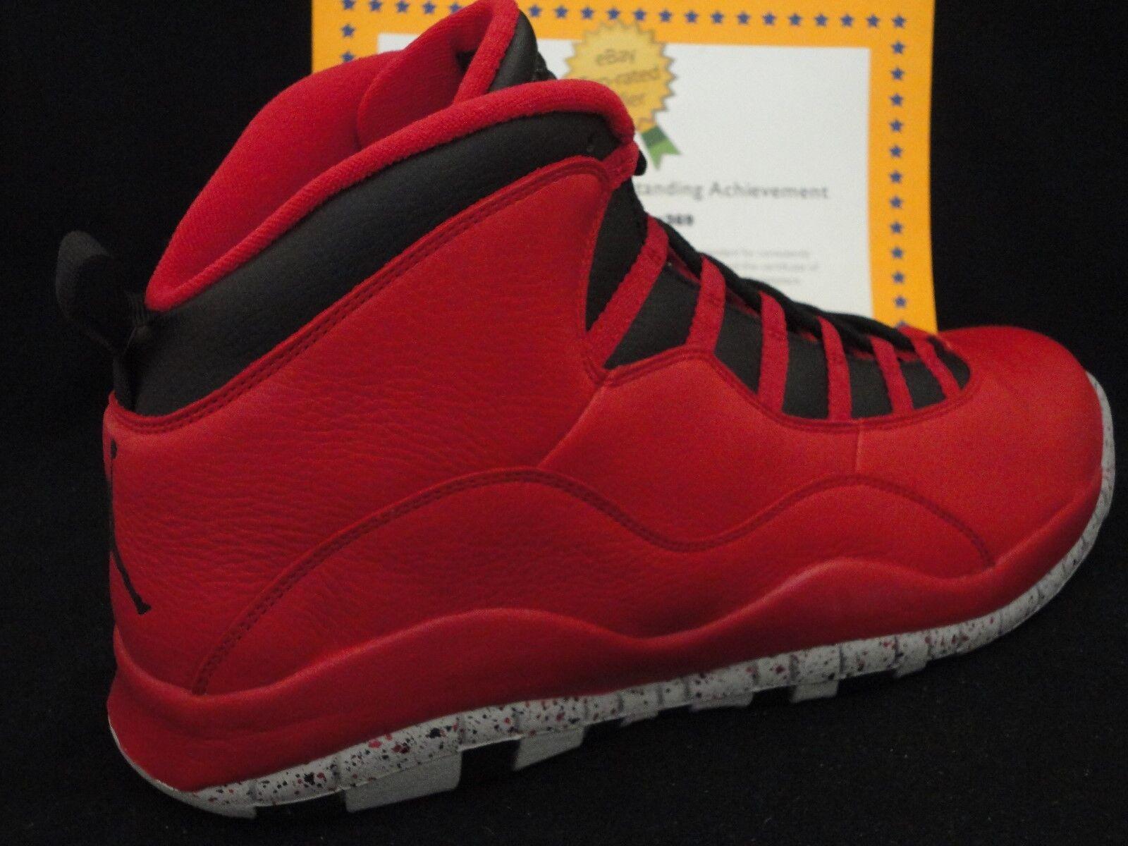 Nike Air Jordan 10 Retro 30th, Bulls Over Broadway, Toro, Size 17