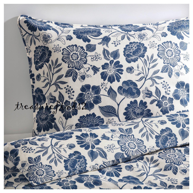 IKEA roi Couette en lin avec housse de couette avec 2 taies angsort Bleu Blanc Scellé Pkg
