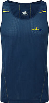 Ronhill Stride Racer Mens Running Singlet Navy Clothing & Accessories