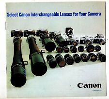 Photography Reference Guide For Canon  Interchangeable Lenses For Your Camera