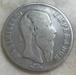 1866 Mo Mexico 1 One Peso - Maximilian