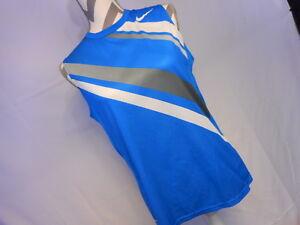 Nike-Women-s-Fit-Dry-Sleeveless-Blue-Grey-White-Active-Wear-Size-Large