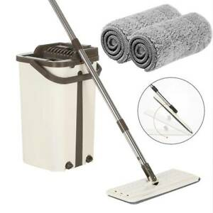 360-Flat-Squeeze-Microfiber-Mop-and-Bucket-Set-Home-Floor-Tiles-Cleaning-2-Pads