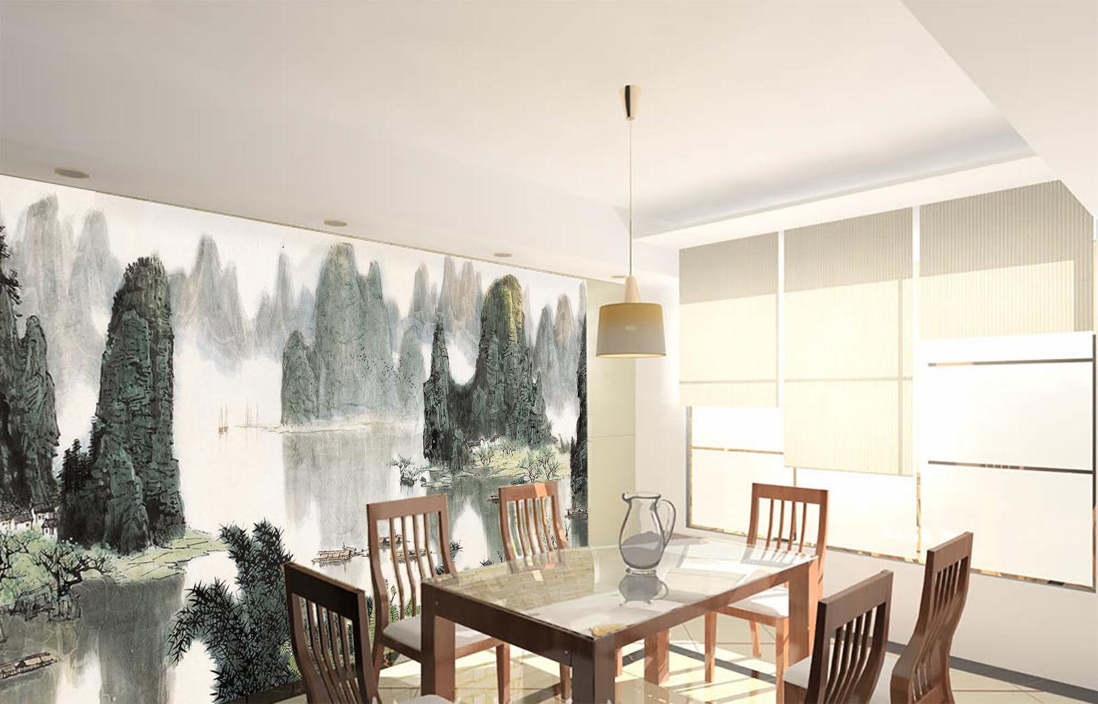 3D Landscape Draw 72 Wall Paper Murals Wall Print Wall Wallpaper Mural AU Summer