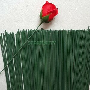 10pcs 2 green floral tape iron wire artificial flower stub stems image is loading 10pcs 2 green floral tape iron wire artificial mightylinksfo