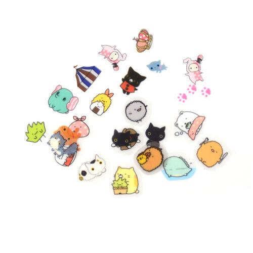 Newly 80Pcs DIY Cute Kawaii Transparent PVC Stickers Lovely Rilakkuma Stic HICA