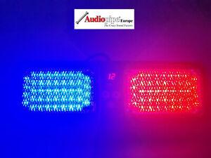 45W-LED-Frontblitzer-Sonnenblende-Police-Abschleppwagen-neue-Technik-Blau-Rot