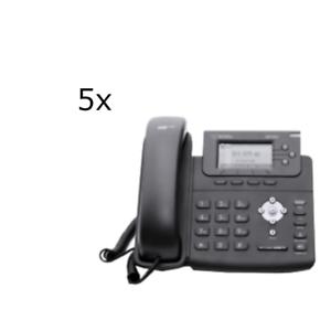 5x-Wildix-WP480-Navigationstasten-RJ11-Anschlussverbindung-132-64-LCD