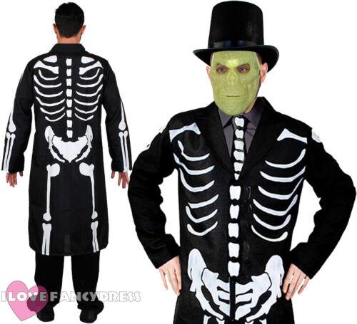 James Ossa Costume Con Cappello Maschera GID Scheletro lungo giacca e cravatta Costume