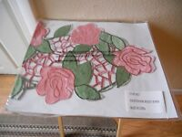 Rose Bouquet Runner 16623 Pink Green Floral Lovely