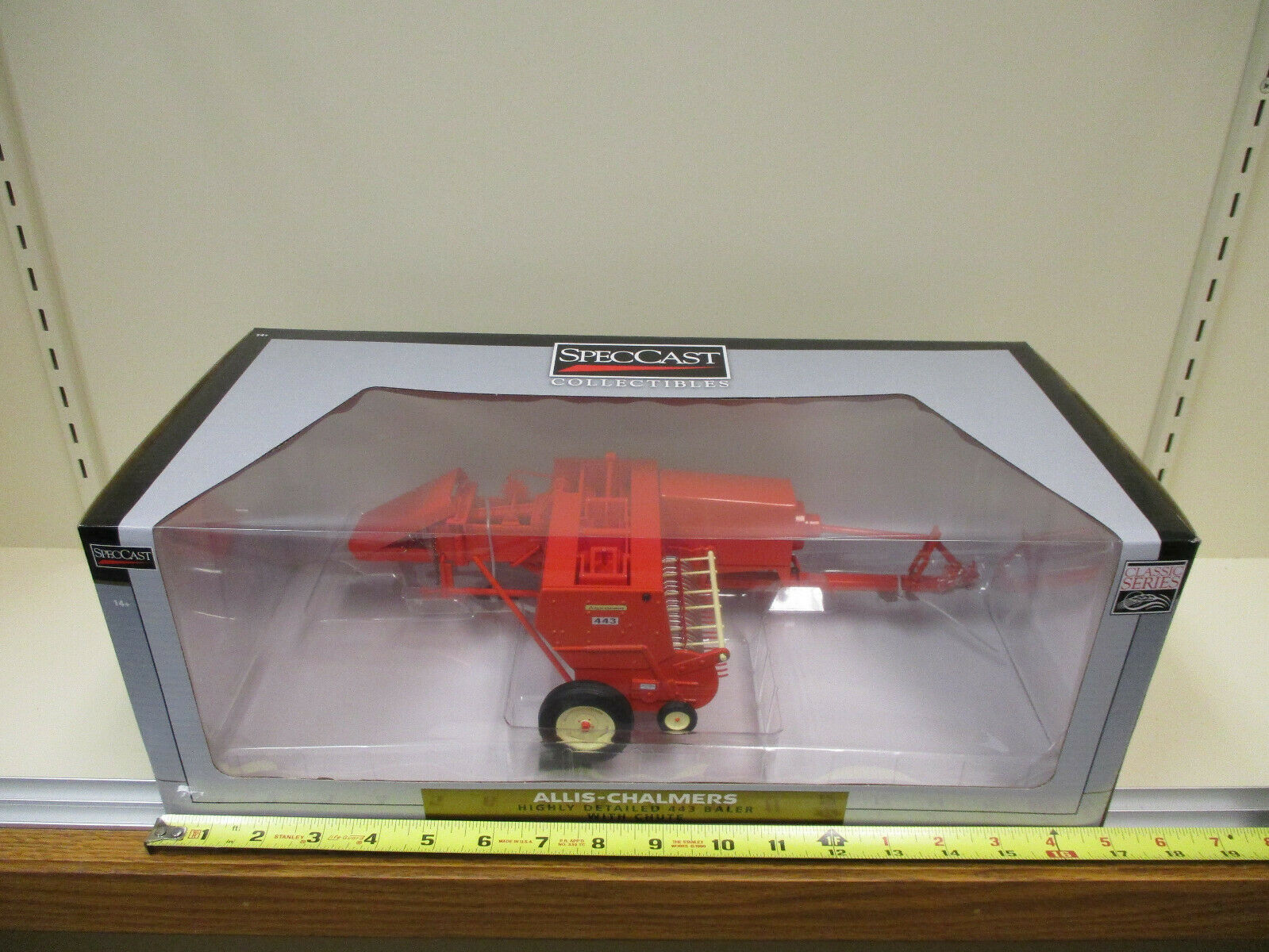 Allis-Chalmers 443 Baler with Chute by SpecCast 1 16th Scale