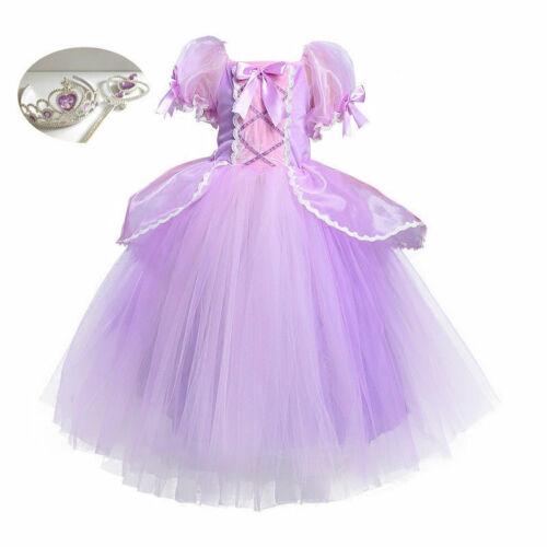 Girls Disney Fancy Dress Princess Sofia the First Fancy Dress Ballerina Tutu