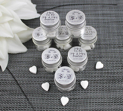 Personalised Glass Bottle Wedding Favours Mint To Be