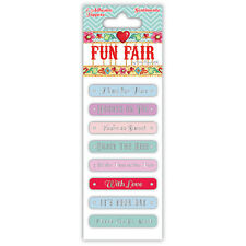 'Fun Fair by Helz Cuppleditch' Adhesive Sentiment Toppers