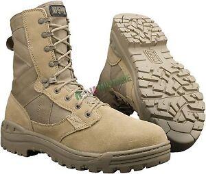 7d266977939801 Caricamento dell'immagine in corso Anfibi-MAGNUM-modello -AMAZON-Militari-Tan-Desert-Sabbia