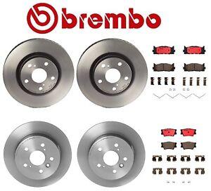 Brembo Front Brake Kit Ceramic Pads /& UV Coat Disc Rotors For ES350 Camry Avalon