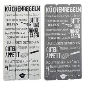 Wandschild Dekoschild Küchenregeln Familie Schild Sprüche Vintage Shabby