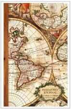 Antique Map Internet Website Password Logbook Username Address Organizer Book