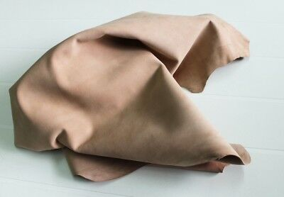 Goatskin THICK leather skin hide WASHED /& WRINKLED OFF WHITE 6sqf