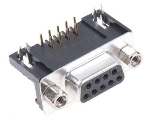 9 Way Angle Droit Through Hole PCB Connecteur D-Sub Sock ASSMANN WSW A-DF Series